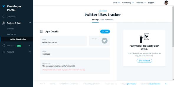 Twitter Developer Portal