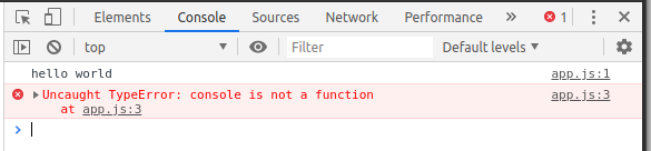 Erro no navegador