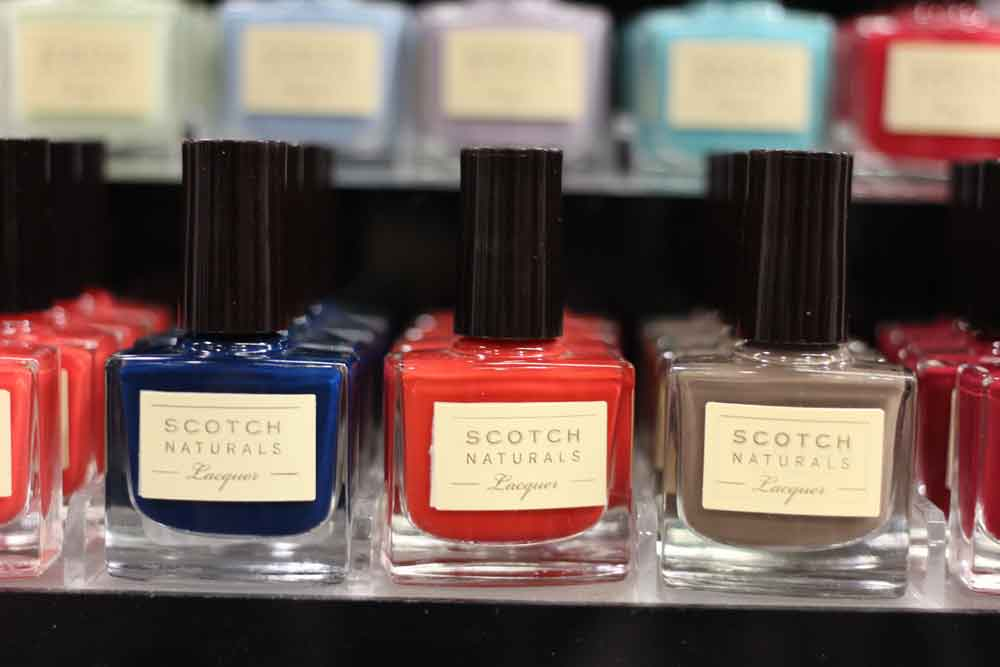Scotch Naturals nail polish display