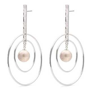 Pilgrim Double-O Irregular Freshwater Pearl Earrings