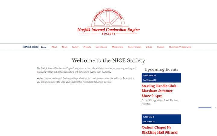 Nice Society website frontpage