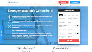 academized.com main page