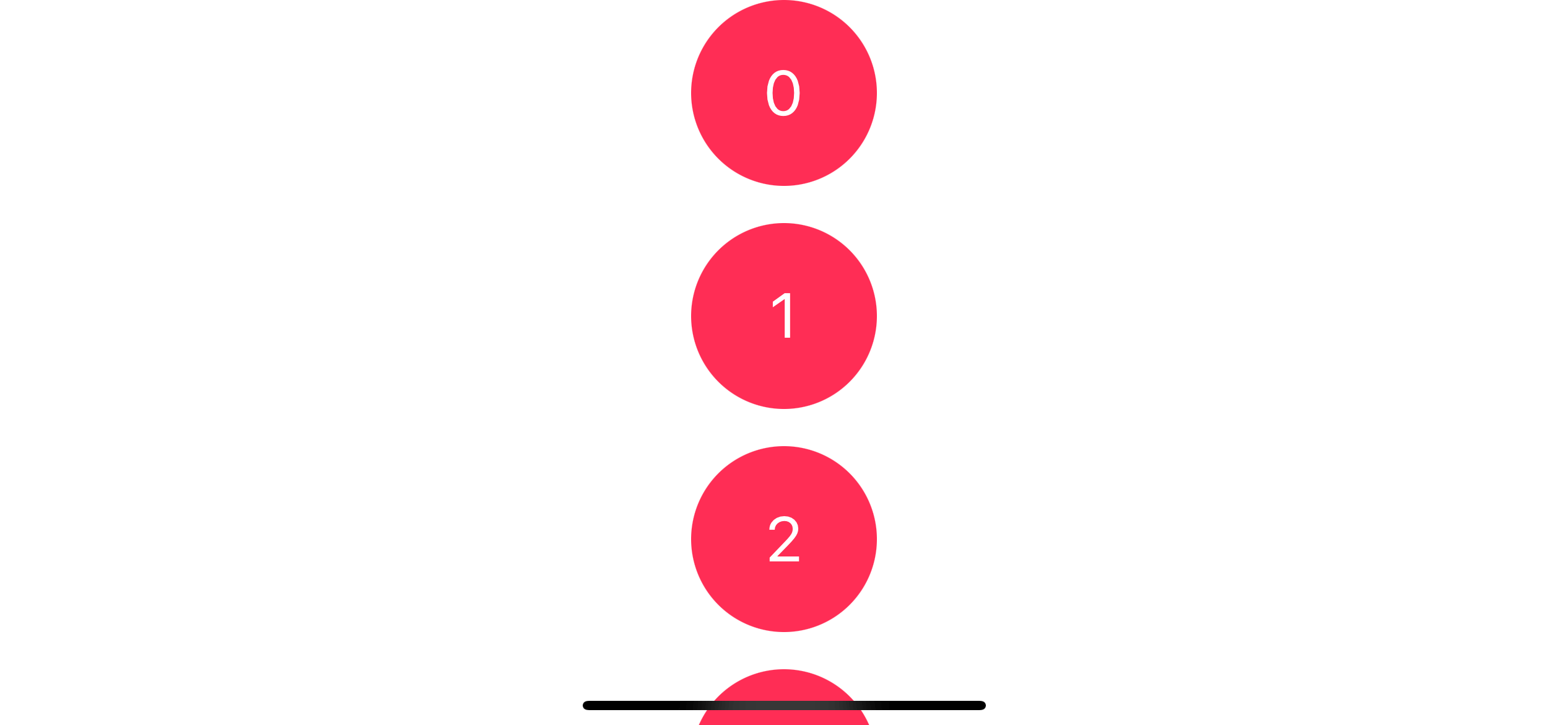 By default, the scroll view will create with a vertical scrolling direction.