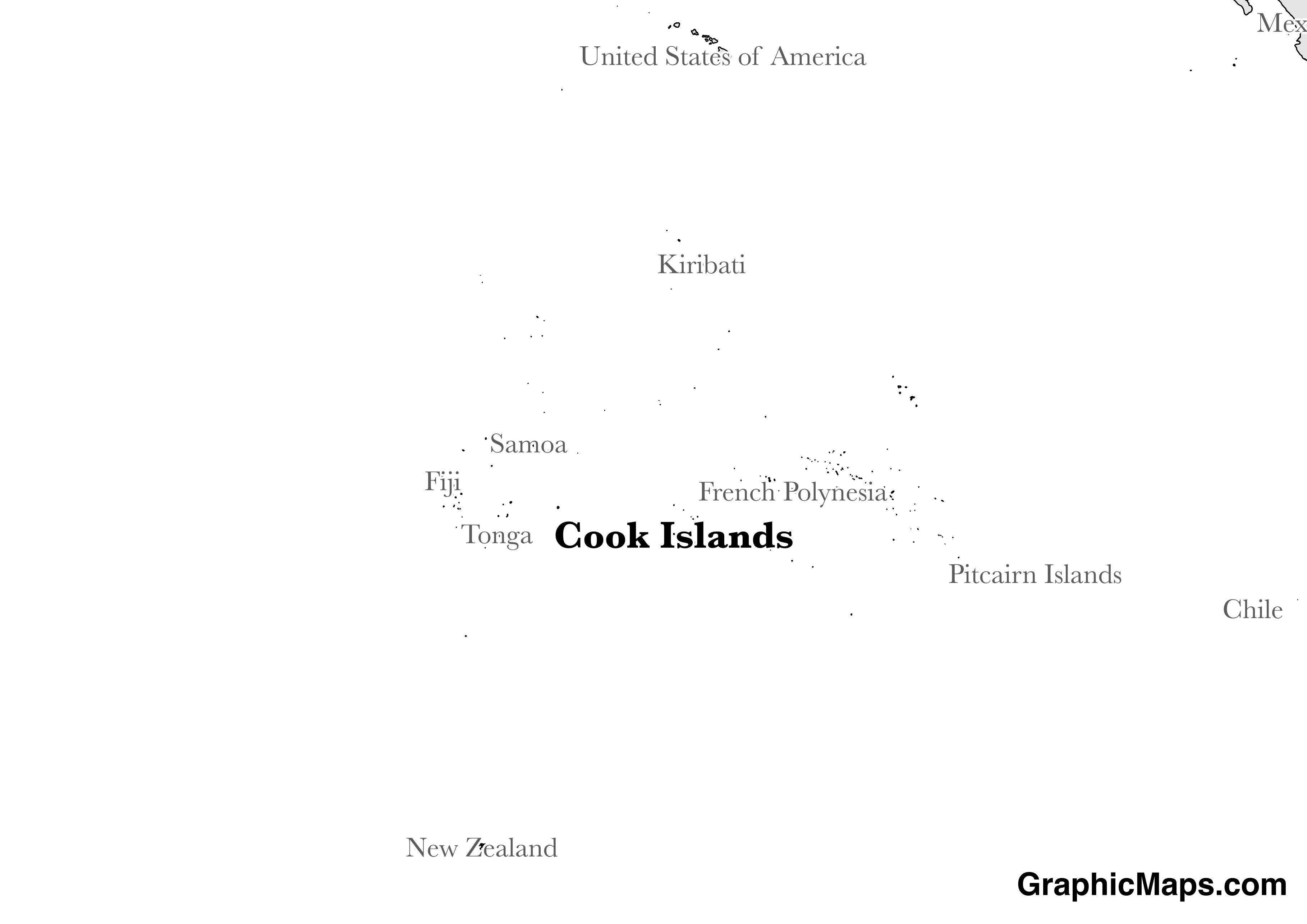 Cook Islands GraphicMapscom - Cook islands map