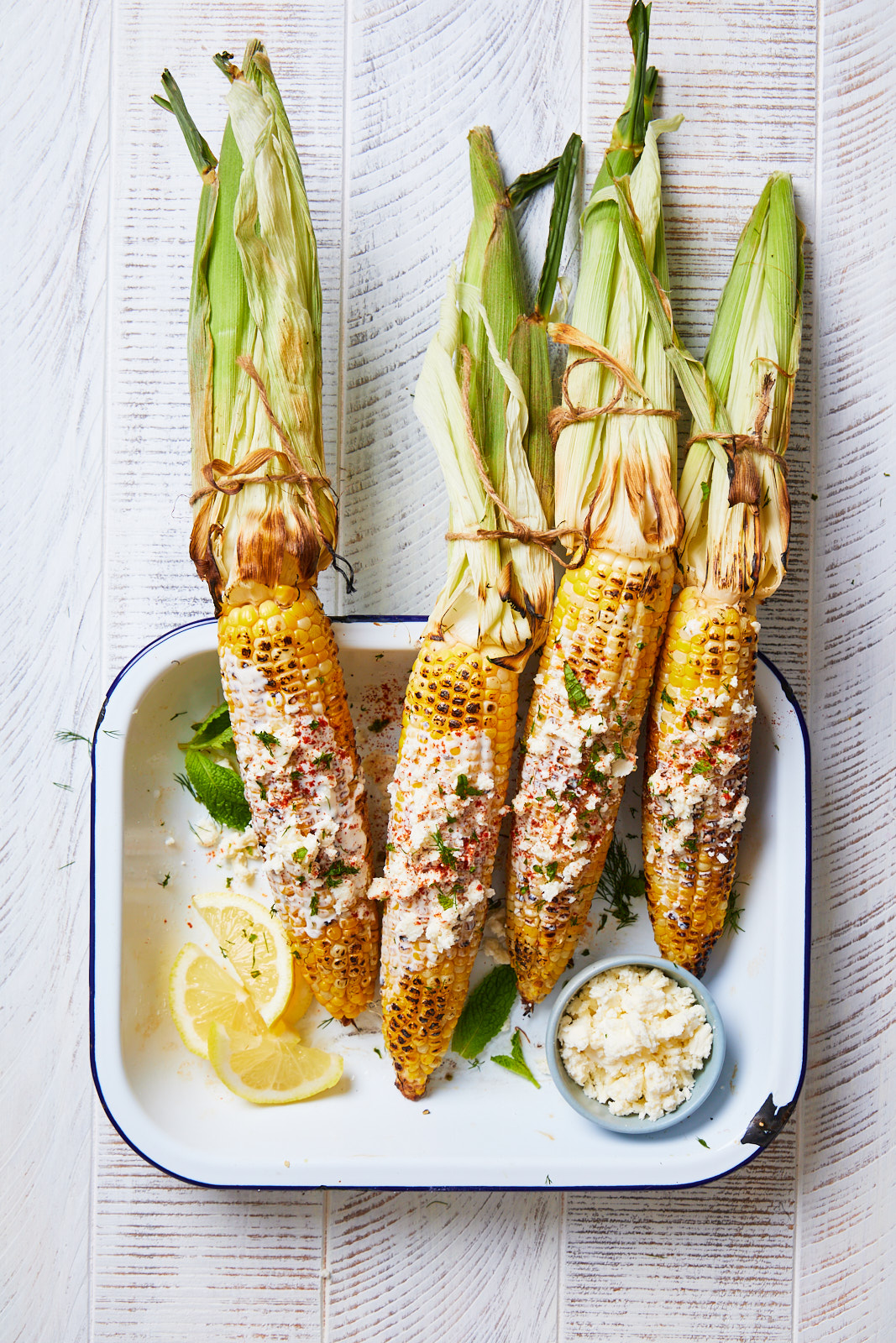 Mexican Street Corn (Elote) Done Greek Style
