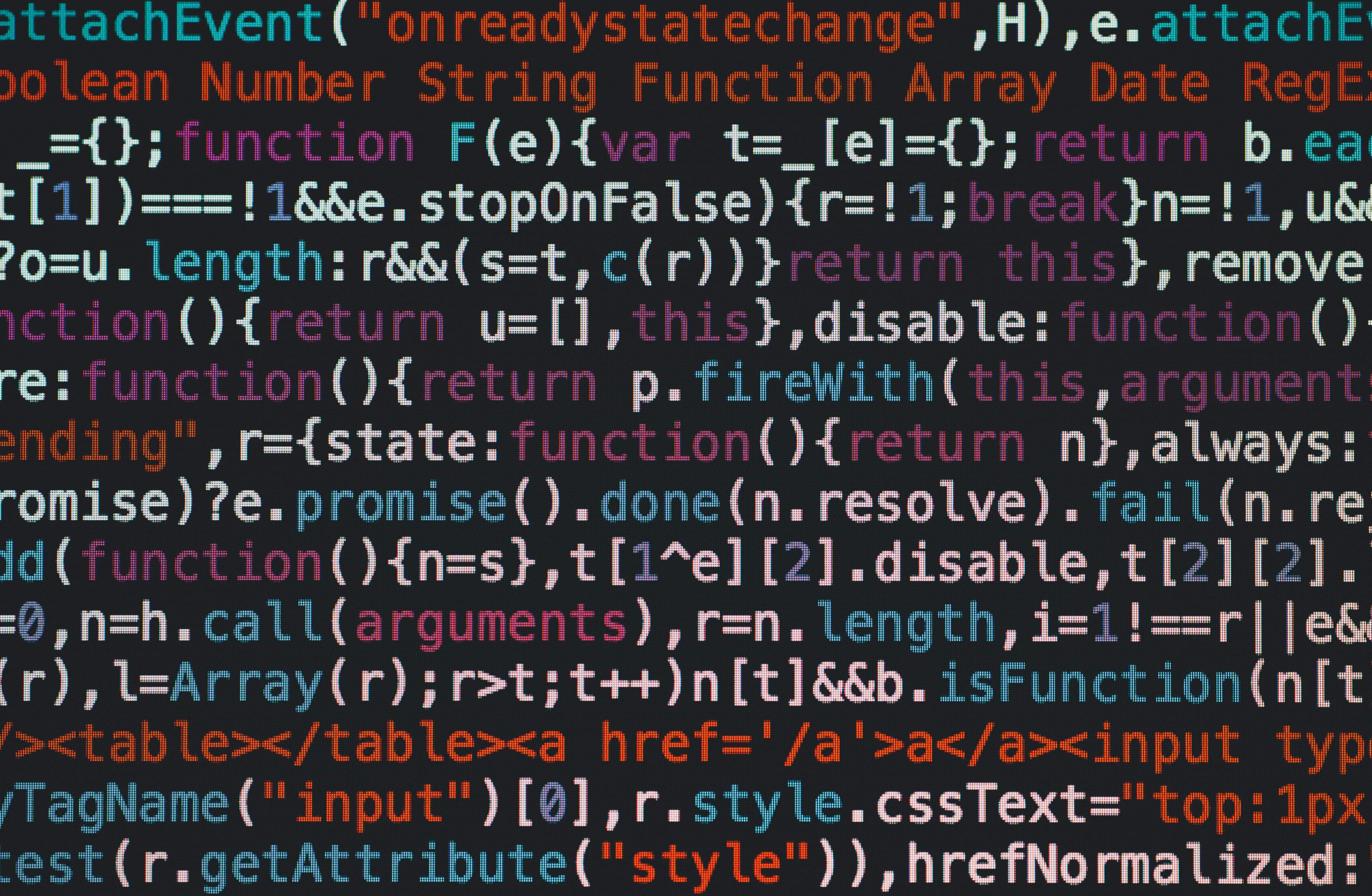 Imagem de uma sessão de códigos no editor de textos