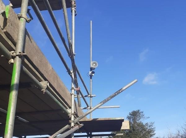 Construction site CCTV camera