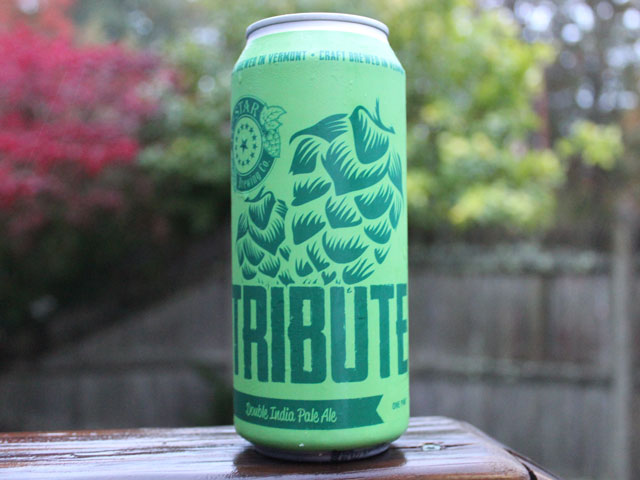Tribute, a Double IPA from Vermont's 14th Star Brewing Company, a Veteran-owned brewery