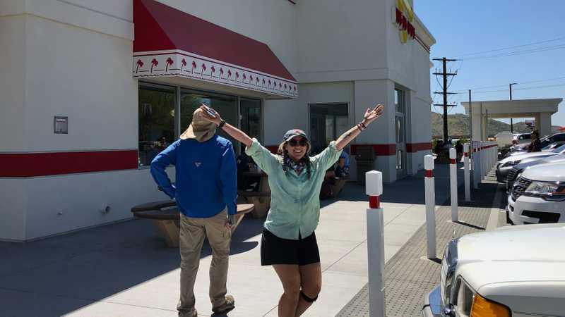 Falls and Spamalot at In-N-Out Burger
