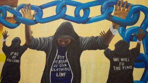 Deptford student mural tells police: things must change