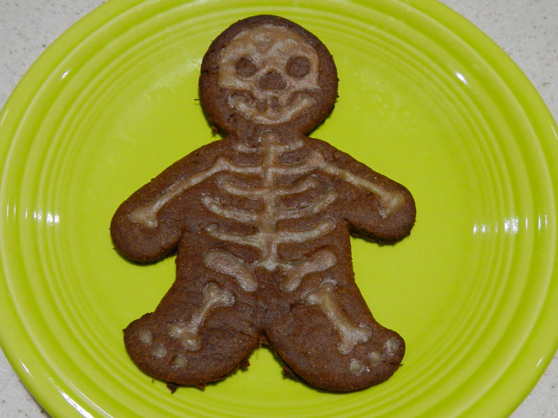 Skeleton Cookie Frosting Next Day