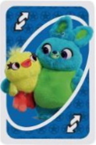 Disney Pixar 25th Anniversary Blue Uno Reverse Card