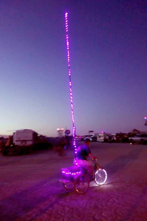 Burning Man Fishing Pole Bike