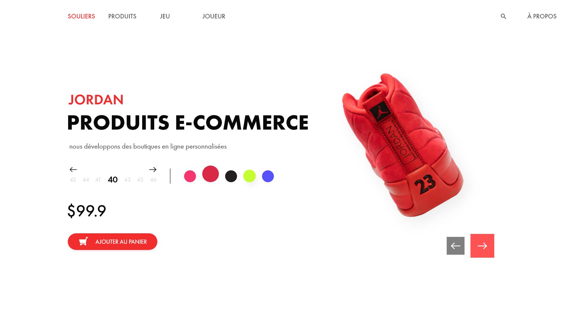 Produits e-commerce