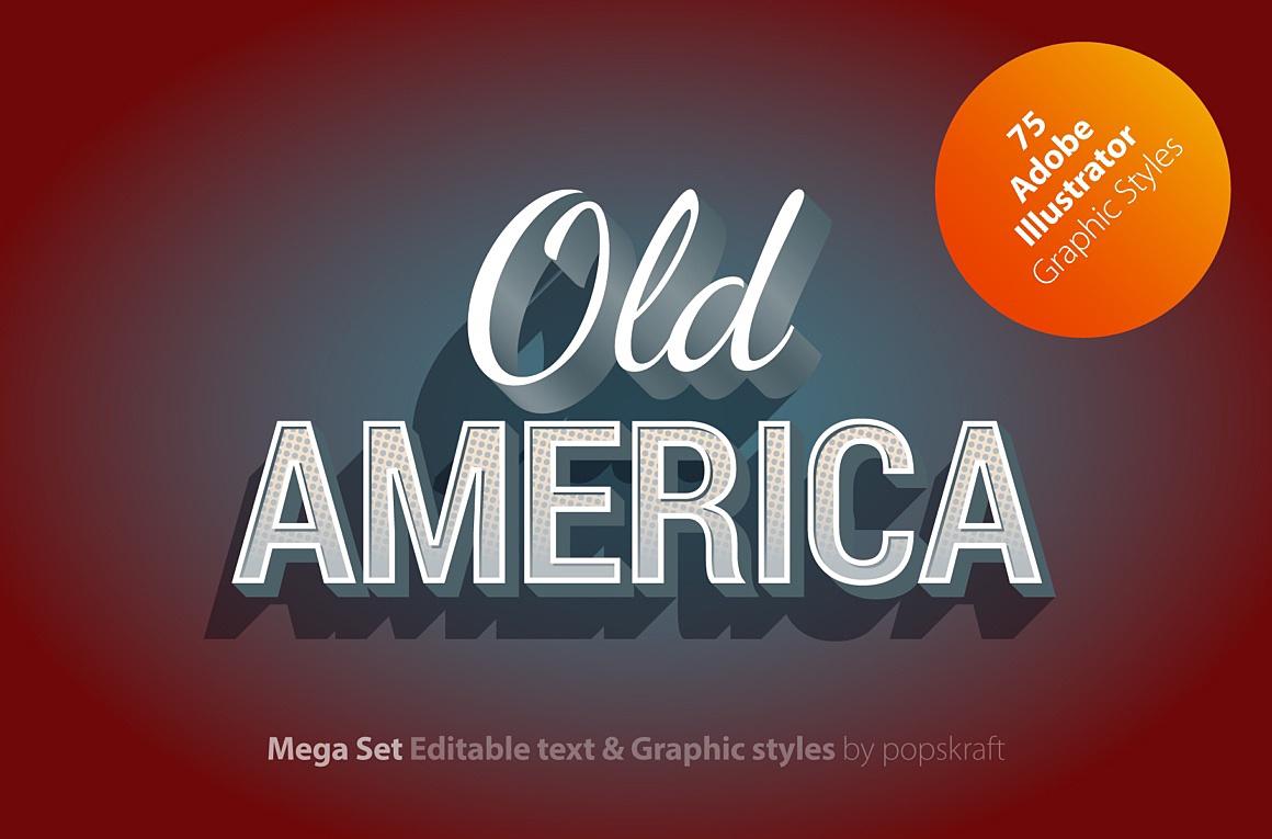 Old America Adobe Illustrator Styles images/oldamerica_1_cover.jpg