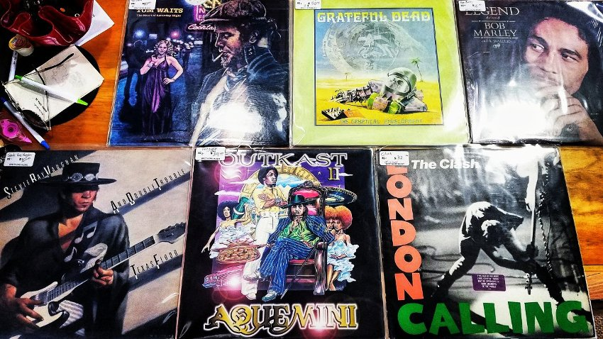 Vinyl Records - SRV, Outkast, The Clash, Bob Marley, Greatful Dead