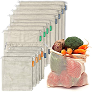 Reusable produce bags, cotton mesh