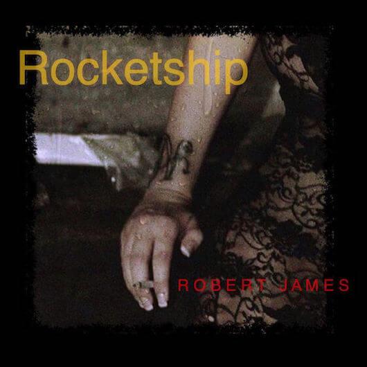 Album Cover, a dark image shows shoulder, arm and half body holding a cigaret