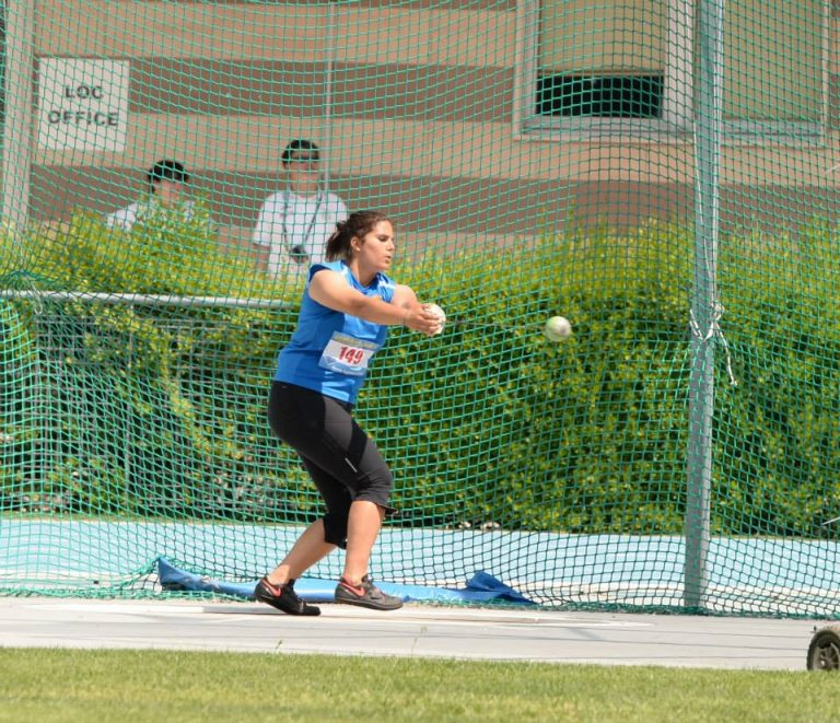 Victoria in a hammer throw competition