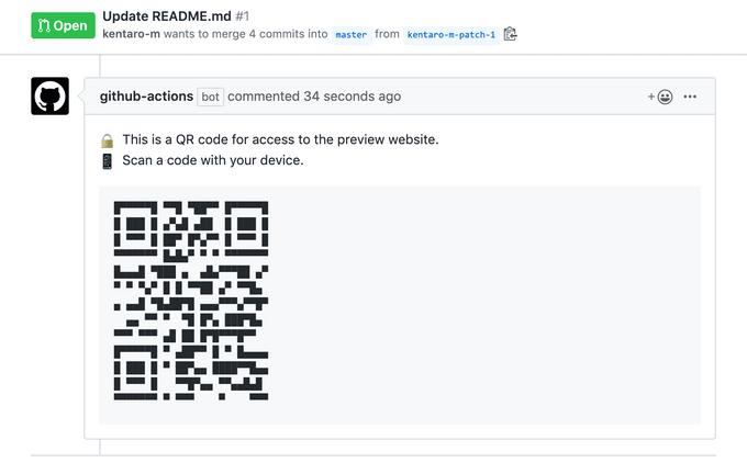 QR Code Commenterの動作例