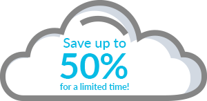 Save up to 50% for a limited time!