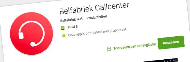 Met de Belfabriek Callcenter app kunnen medewerkers en callcenter agents zelf hun beschikbaarheid regelen. Uw servicenummer wordt automatisch doorgeschakeld naar de beschikbare medewerker of medewerkers.