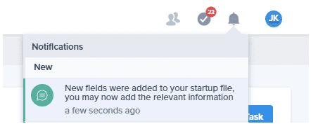 Notification new field
