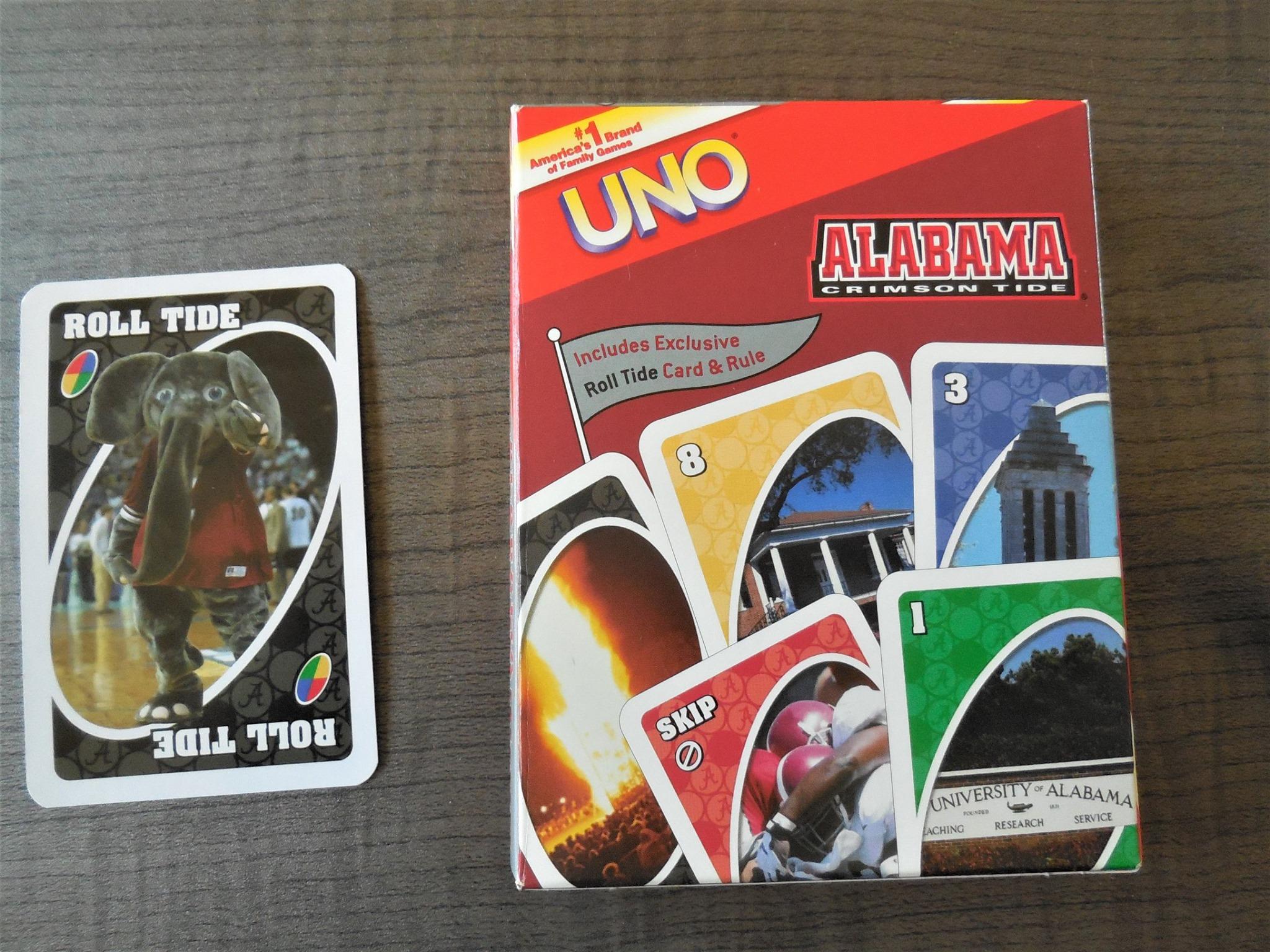 University of Alabama Uno Card Game