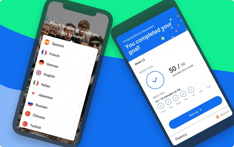 Busuu's mobile apps