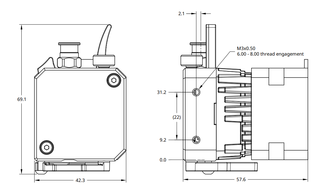 DyzeXtruder Pro Drawings