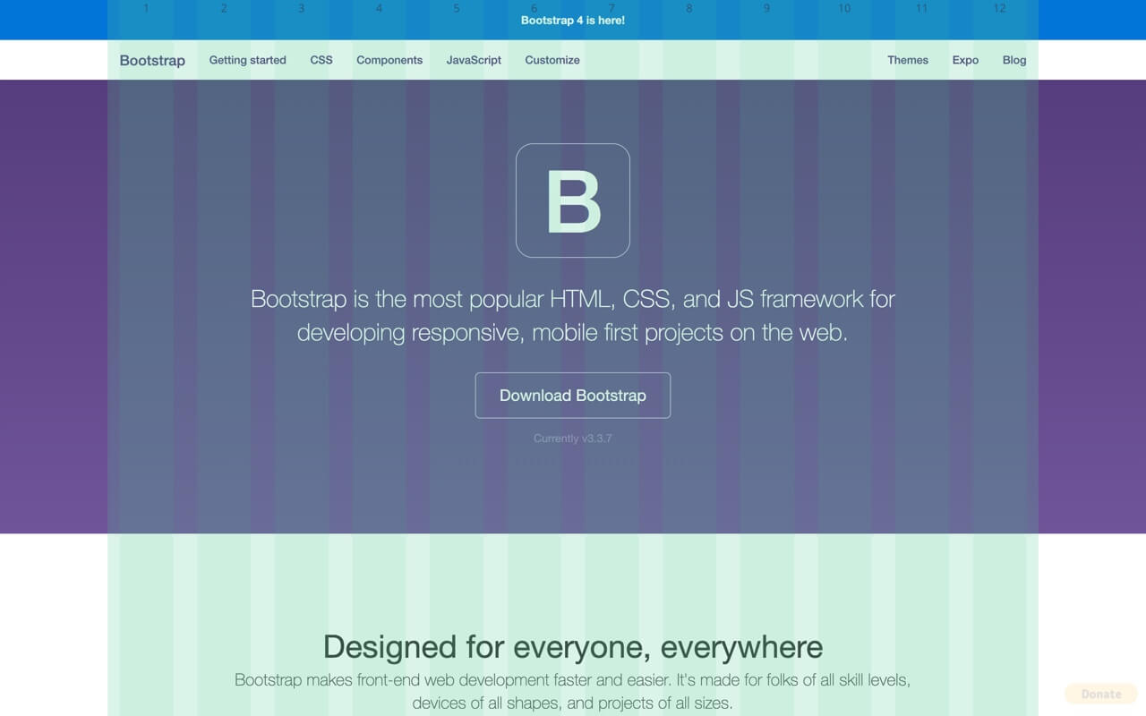 Bootstrap Grid Overlay - Bootstrap 3