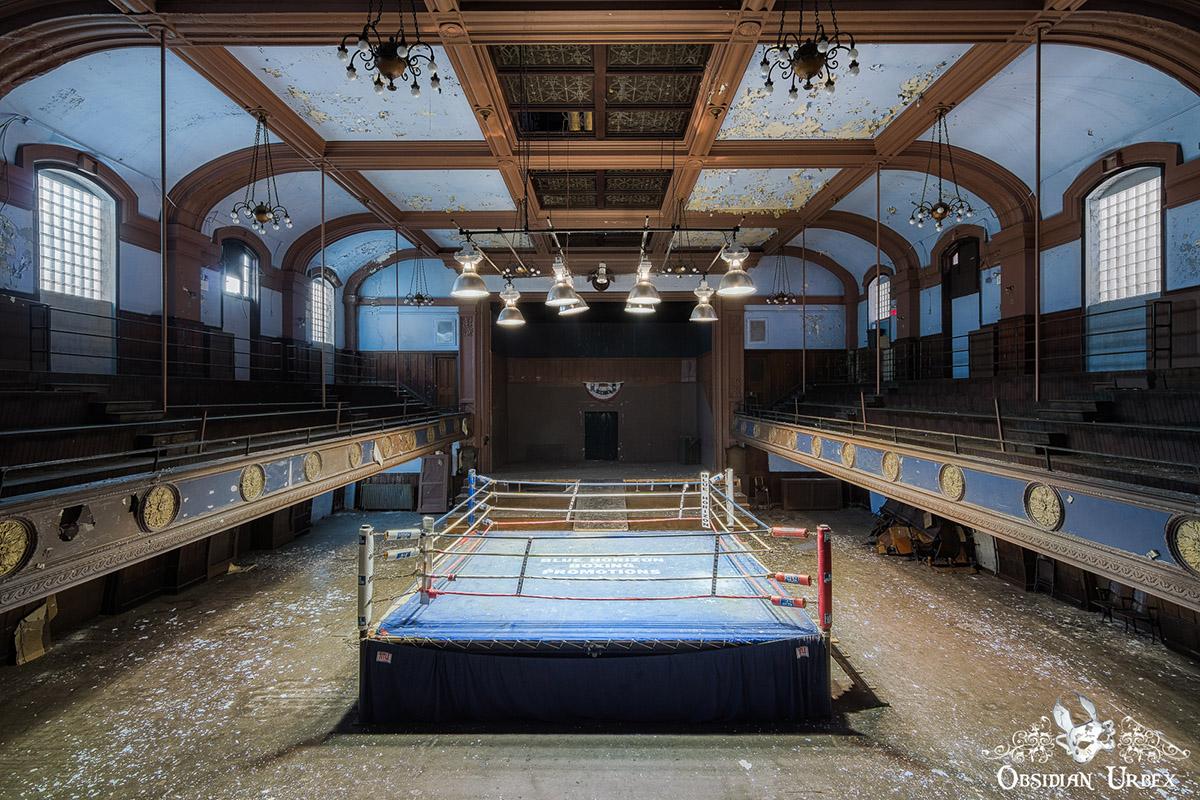abandoned boxing ring