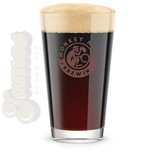 Rendering of Monkey 9 James Brown Ale Beer