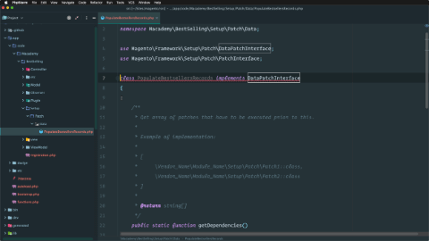 Create a data patch script