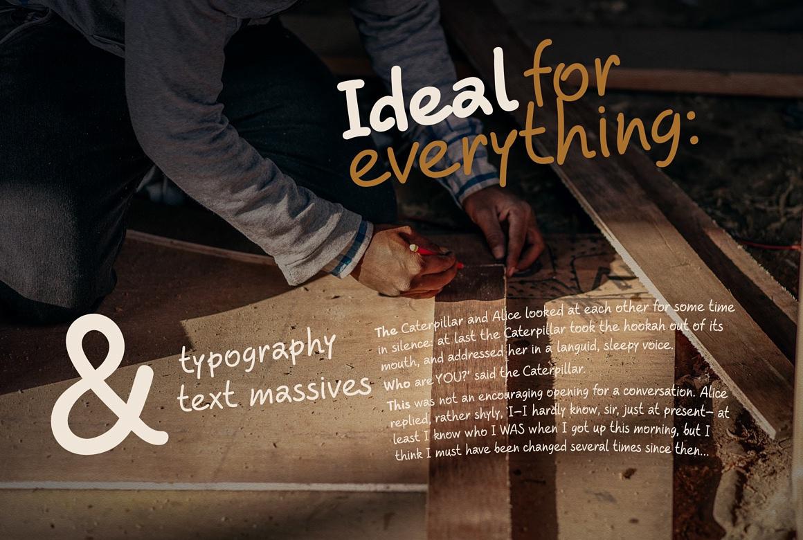 Hand drawn script font. Beaverist images/beaverist_cute_font_4.jpg