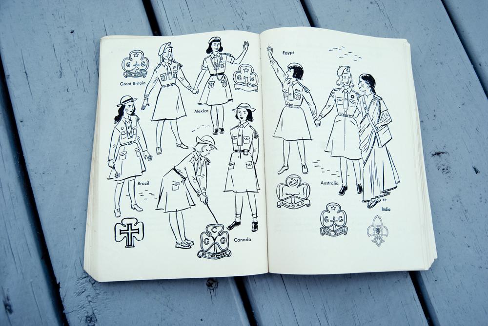Girl Scout Handbook interior caption