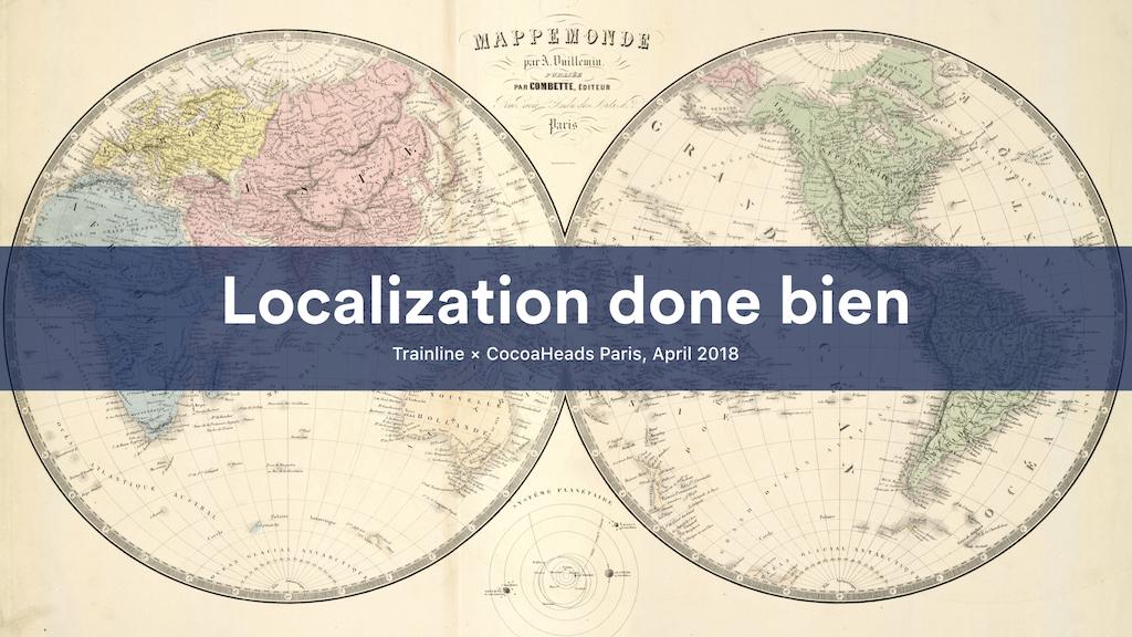 Localization done bien