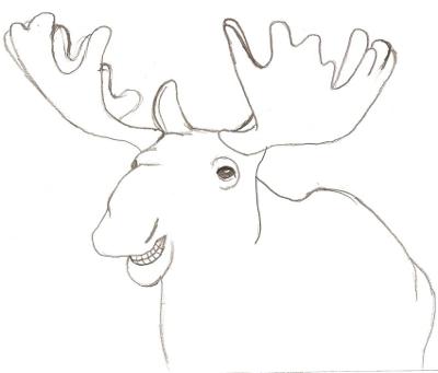 Happy Moose Sketch