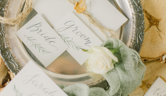 hand drawn place cards with calligraphy inscriptions item thumbnail