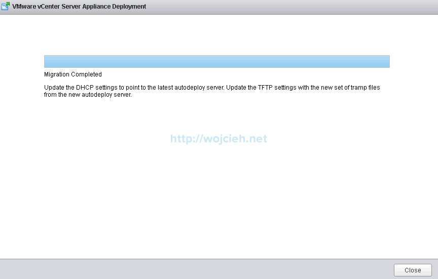 Upgrade vCenter Server Appliance from version 5 to version 6 - 15