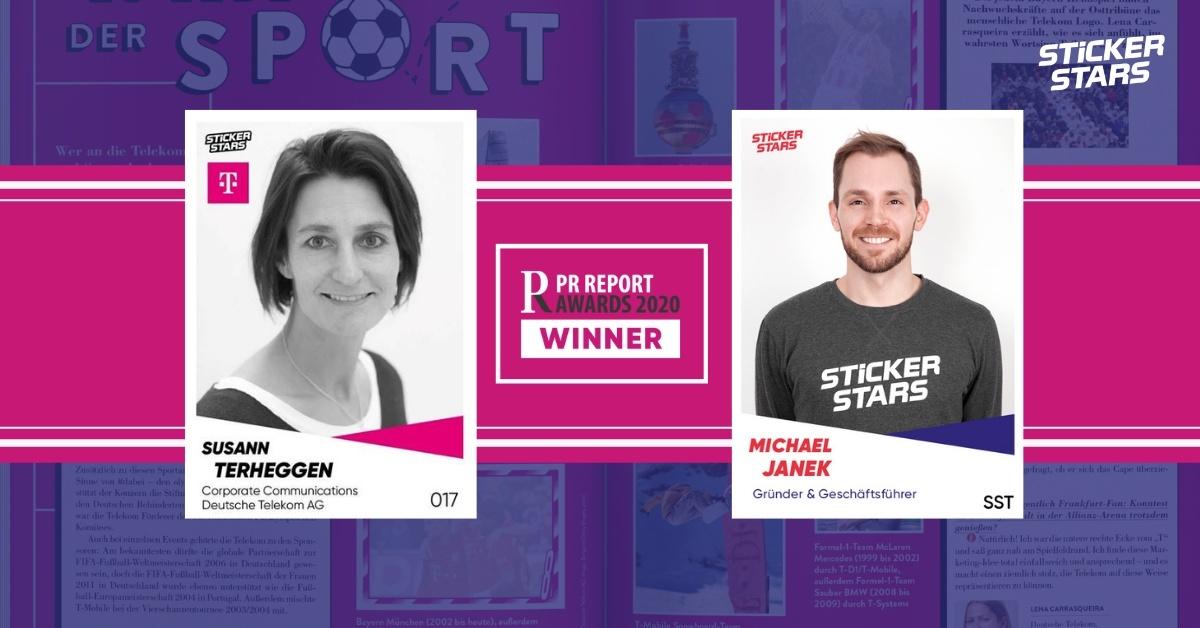 Stickerstars Preisträger des PR Report Awards 2020