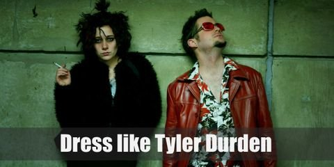 Tyler Durden is a personality, that fact we know. But that doesn't make him less real (nor less dangerous). Tyler's fashion is as loud and obnoxious as his personality. He may be a bit crazy and his methods a lot more dubious, but his sense of style is strangely good.