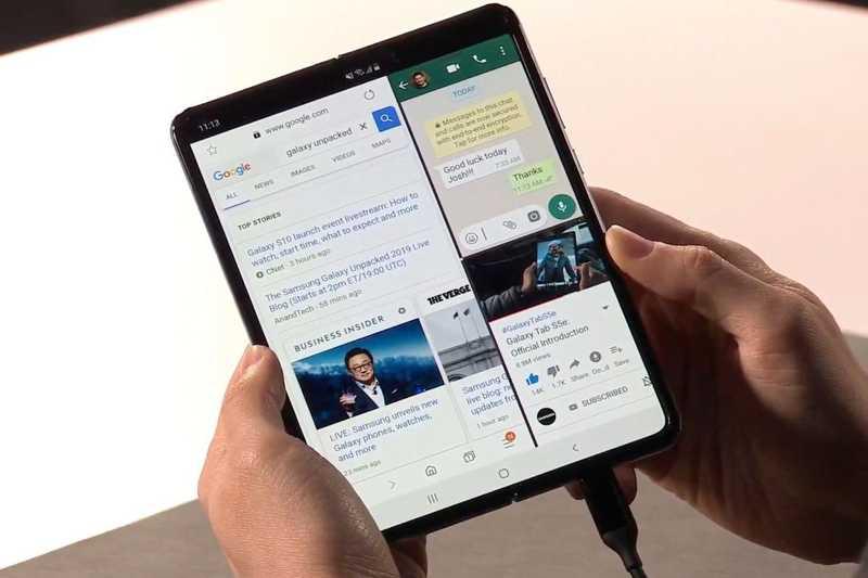 3 apps on Galaxy Fold