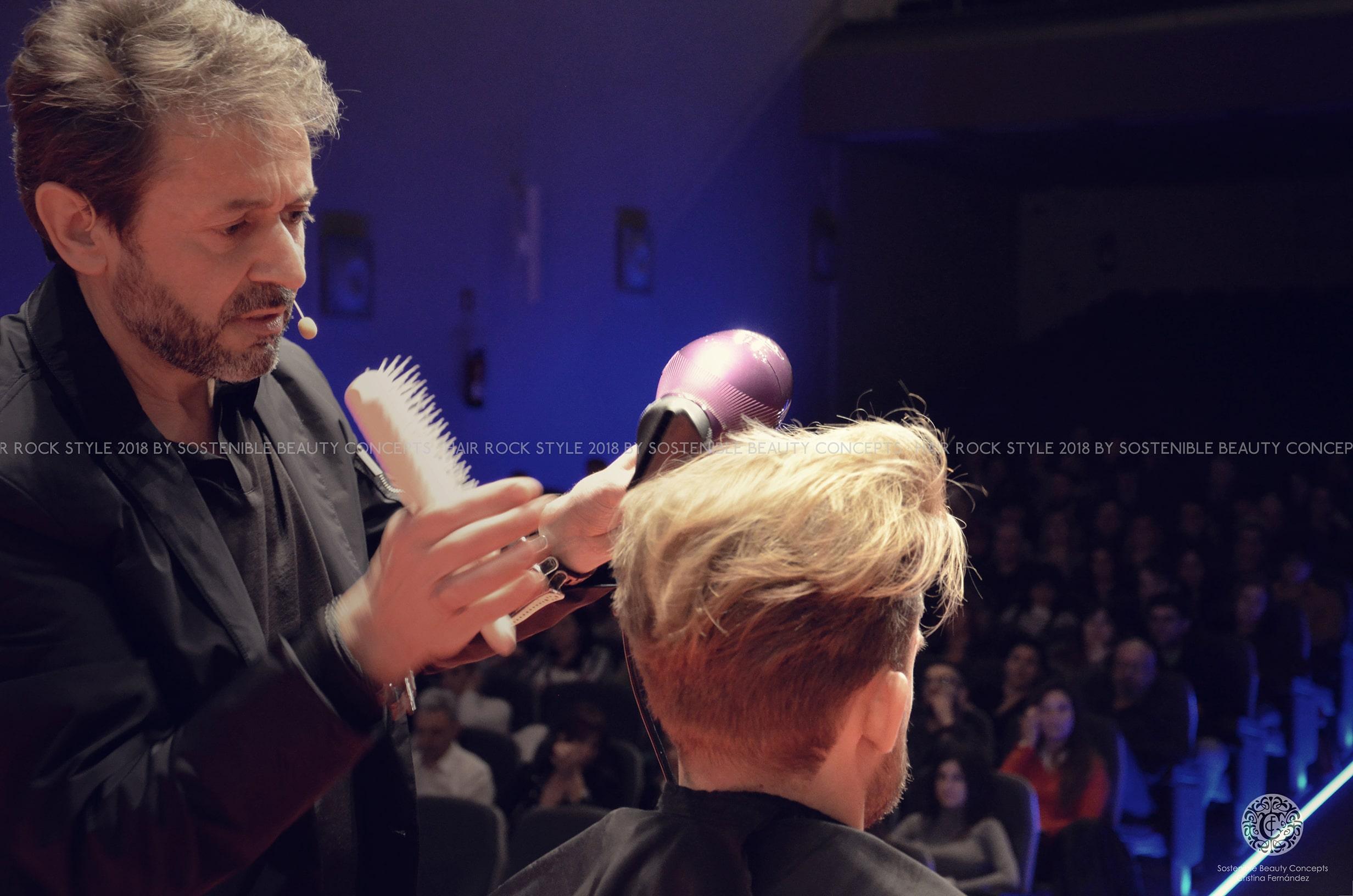 Hair rock style demostración