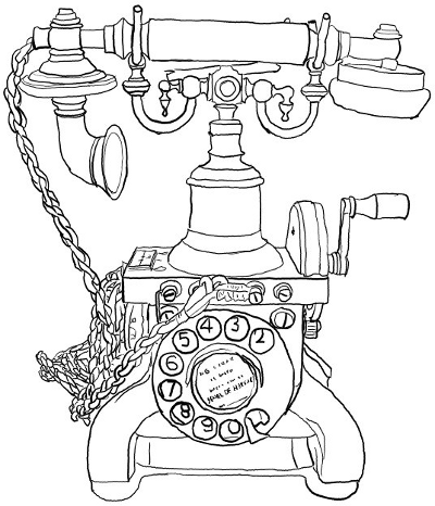 Old Telephone Sketch