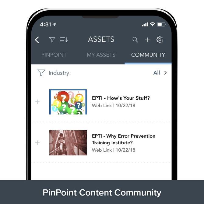 PinPoint Content Community
