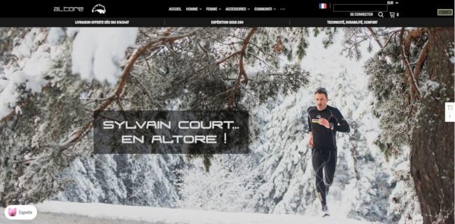 Altore home page'