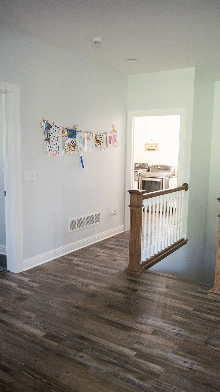 Staircase and laundry room