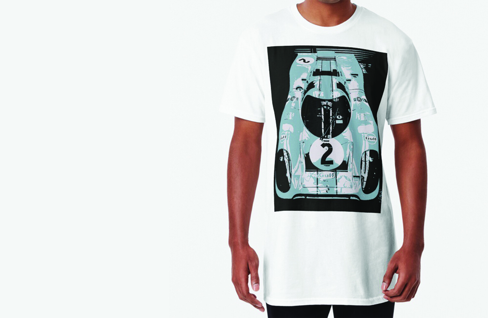 Porsche 917K Long T-Shirt by thespeedart