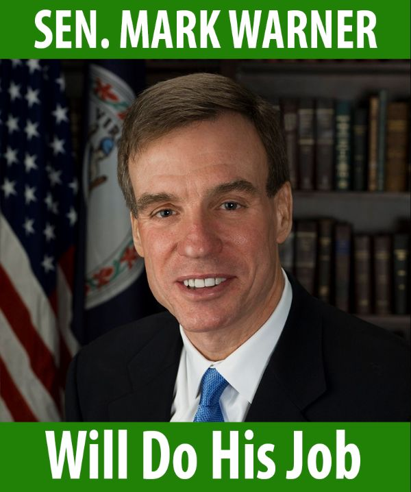 Senator Warner will do his job!